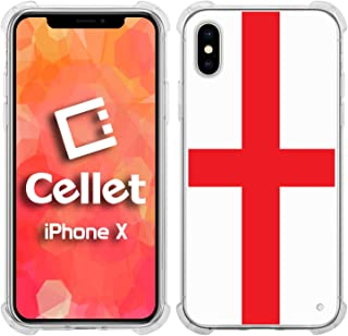 Cellet TPU / PC Proguard Case with England Flag for Apple iPhone X