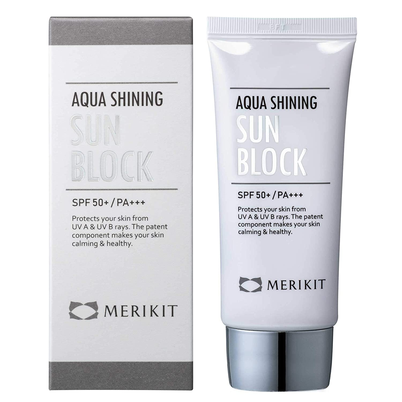 MERIKIT Aqua Shining SUN Austin Mall BLOCK. Protects Your UV from Columbus Mall skin U A