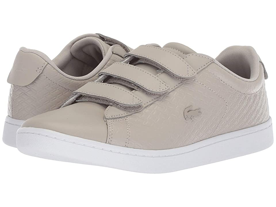 01fc5d057b05 Lacoste Carnaby Evo Strap 418 1 (Grey White) Women s Shoes