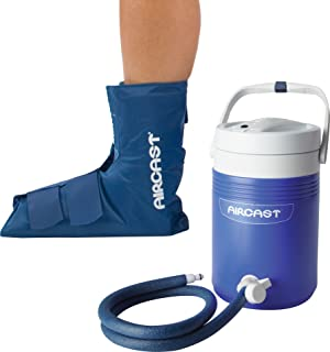 Aircast Cryo/Cuff Cold Therapy: Ankle Cryo/Cuff with Non-Motorized (Gravity-Fed) Cooler, One Size Fits Most