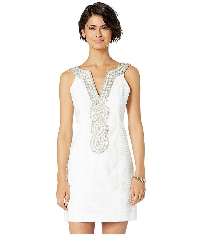 Vintage White Dresses 1900-1970s Lilly Pulitzer Valli Shift Dress Resort White Womens Dress $198.00 AT vintagedancer.com