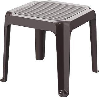Cosmoplast 6291048137085 Regina Indoors and Outdoors Low Square Table, Dark Brown, 1.8-kg, Plastic, H43 x W48 x D48 cm