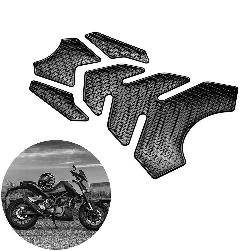 3D Motorcycle Tank Sticker Protector Decal Gas Oil Fuel Tank Pad Protector Black for Suzuki Kawasaki Honda Yamaha Ducati Gas Tank Protector Motorcycle Tank Pad