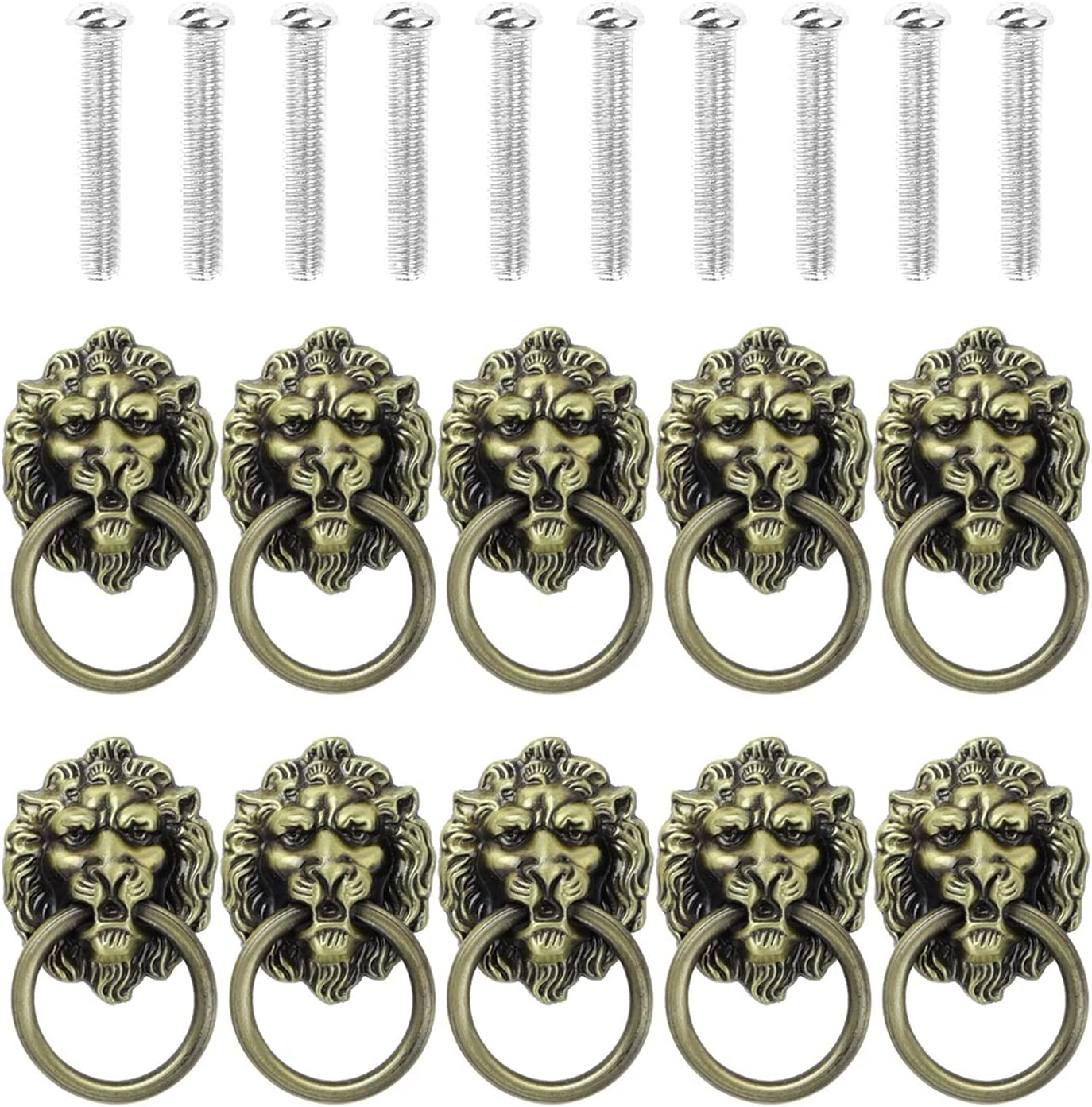 55% Year-end gift OFF CHENGSYSTE Push Pull Handles Vintage Furniture Lio 10Pcs