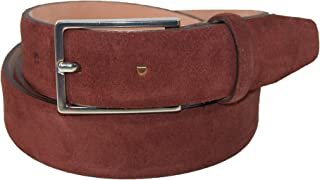 The British Belt Company Men's Stratton Italian Suede Feather Edge 30mm Belt