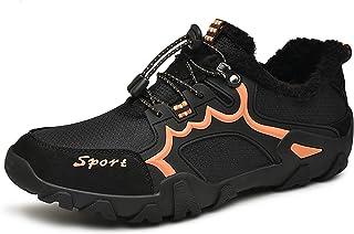 WYZDQ Bottes Hiver Neige Hommes Chaud doublé Bottines en Plein air Marche Chaussures de randonnée Trekking,Noir,US9.5 / UK8.5