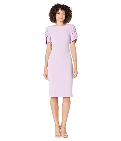 Badgley Mischka Tulip Sleeve Cocktail Dress Women