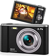 44MP Small Digital Camera for Photography Beginners, 2.7K...
