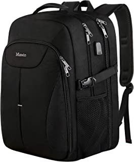 MATEIN Large Backpack, Waterproof 17 Inch Laptop Backpack with USB Port, Durable Travel Computer Bag for Men Women, School College Big Student Bookbag High School Daypack for Boys