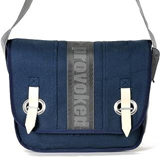 HAB & GUT PROVOKED by HAB&GUT, Messenger Bag aus Segeltuch mit Klettband dunkelblau 35 x 30 cm