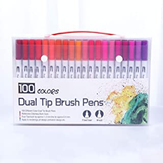 12/18/24/36/48/72/100 Colors Fineliner Art Marker Pens Drawing Painting Watercolor Dual Tip Brush Pen School tionery Supplies