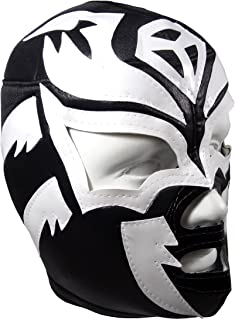 SOMBRA Adult Lucha Libre Wrestling Mask (pro-fit) Costume Wear - Black/White