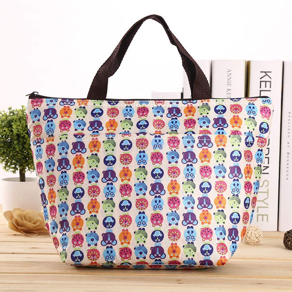Portable Bento Box Lunch Bag Insulated Cooler Carry Tote Picnic Storage Thermal