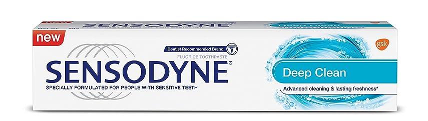 ロゴ冒険者滑りやすいSensodyne Sensitive Toothpaste - Deep Clean, 70g