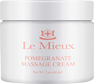 Le Mieux Pomegranate Massage Cream - Aromatic Moisturizing Neck & Face Massage Cream with Algae, Hyaluronic...