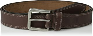 Men's Classic Leather Jean Belt 1.4 Inches Wide (Big & Tall Sizes Available)