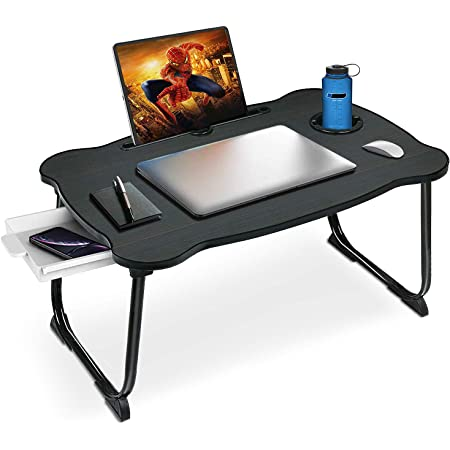 Laptop Desk for Bed Multi-Function Laptop Table with Storage Drawer Writing Watching Movie on Bed//Sofa//Floor Bed Tray for Laptop Foldable Laptop Bed Trays for Eating Eating Breakfast