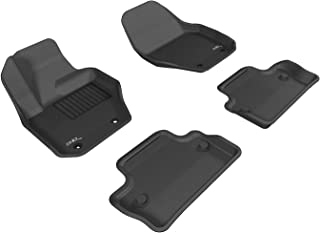 3D MAXpider Complete Set Custom Fit All-Weather Floor Mat for Select Volvo S60 Models - Kagu Rubber (Black)