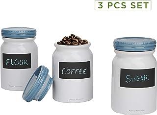 2f05cff825f Mind Reader 3CJAR-BLU 3 pc Small Ceramic Lids