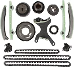 MOTORMAN Timing Chain Kit for 2002-2007 Dodge Dakota Durango 2005 2006 Grand Cherokee 2006 2007 Mitsubishi Raider 4.7L V8 Includes Replacement Chains, Gears, Guides, and Tensioners