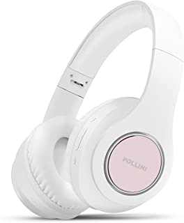 $28 » Bluetooth Headphones Over Ear, Pollini Wireless Headset V5.0 with Deep Bass, Soft Memory-Protein Earmuffs and Built-in Mic...