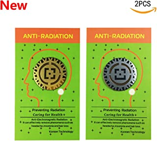 Anti Radiation Shield EMF Protection Sticker,EMR Blocker for All Mobile Phones, iPad, MacBook, Computer, Laptop (Gold and Silver 2pcs) Protect Your Health