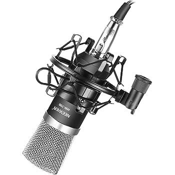 Neewer NW-700 Professional Studio Broadcasting & Recording Condenser Microphone (1)NW-700 Condenser Microphone (1)Metal Microphone Shock Mount (1)Ball-type Anti-wind Foam Cap (1)Microphone Audio Cable