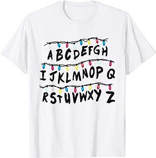 Alphabet Wall T-Shirt - Alphabet Halloween Costume Shirt