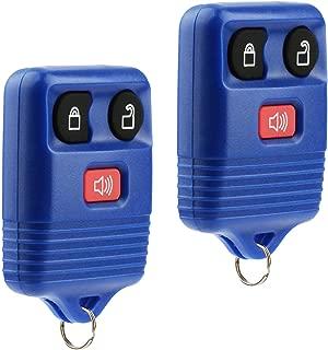 Key Fob Keyless Entry Remote fits Ford, Lincoln, Mercury, Mazda F150 F250 F350 Escape Expedition Explorer Ranger Flex (Blue), Set of 2
