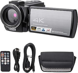 ビデオカメラ、タッチスクリーン 4K 3.0インチデジタルビデオカメラ 顔認識 HDR‑AE8 屋外観光用マイクロフィルム撮影用(Standard, transparency)