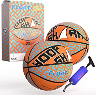 Fun Knuckles Float-EEZ Basketball Pack of 2 - for Indoor/Outdoor Games & Water Sports - air Pump Included - Great for Pool Hoops