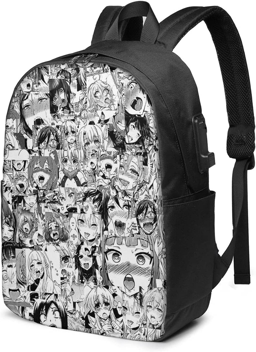 Ahegao Adult Sale Special Price Classic Backpack Selling rankings With Trave Usb Laptop For