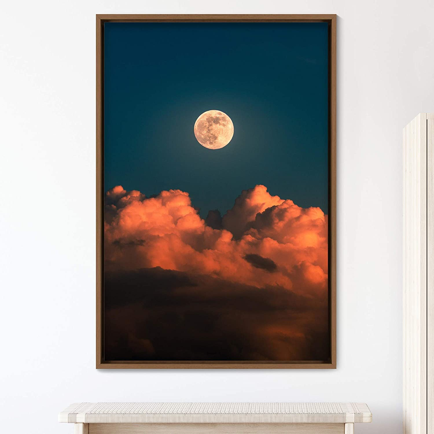 signwin Framed Purchase Canvas Wall Art Co Moon Space Bedroom Ranking TOP12 Astronomy