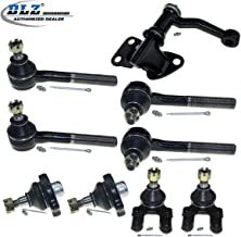 DLZ 9 Pcs Front Suspension Kit-2 Upper 2 Lower Ball Joint 2 Outer 2 Inner Tie Rod End 1 Idler Arm Compatible with 1986-1994 D21 4WD 1987-1992 Pathfinder 1995-1997 Pickup 4WD K9500