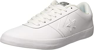 Converse Unisex's White Leather Sneakers-10 UK/India (44 EU) (8907788079322)