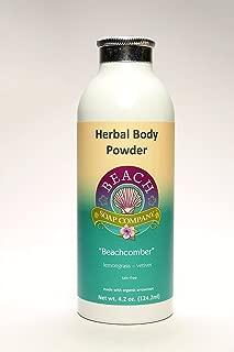 Talc Free Organic Body Powder, Beachcomber Scent (Calendula, Chamomile, Lemongrass, Vetiver Essential Oils). Made and sold by Beach Organics. 4.2 oz.