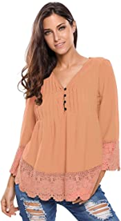 Lace Detailed Sleeved Blouse