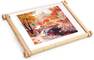 Needlepoint Embroidery Tapestry Scroll Frame Made of Organic Beech, Wooden Cross Stitch Frame, Needlepoint Holder, Stitching Frame (9.8 х 12.5 in)