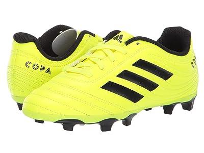 adidas Kids Copa 19.4 FG Soccer (Little Kid/Big Kid) (Solar Yellow/Black) Kids Shoes