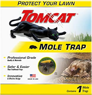 Tomcat Mole Trap - Kill Moles Without Drawing Blood to Protect Your Lawn - Reusable - Professional Grade, Innovative and Effective Design