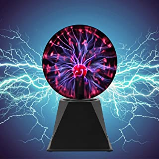 SKEIDO Magic Plasma Ball,6Inch Thunder Lightning, Touch & Sound Activated Plasma Globe for Parties, Novelty Decorations fo...