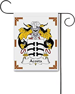 Carpe Diem Designs Acosta Coat of Arms/Acosta Family Crest 11 X 15 Garden Flag – Made in The U.S.A.