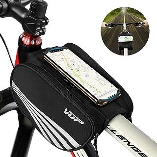 VUP Bike Top Tube Bag, Waterproof Front Frame Bike Bag with Large Storage, Universal Bicycle Motorcycle Handlebar Bag Fits All 4