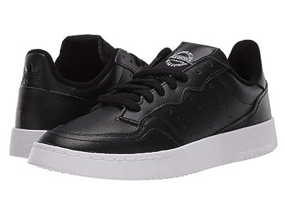 adidas Originals Kids GS Supercourt (Big Kid) (Core Black/Core Black/Footwear White) Boy