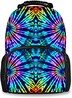 COLORFULSKY Tie Dye Perfection School Backpacks Book Bag for Teenager Boys Girls
