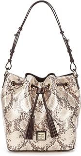 Dooney & Bourke Kitney Collection Serena Tasseled Snake Drawstring Bag