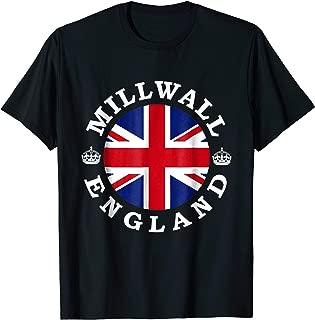 Millwall England UK Vintage British Union Jack T-Shirt