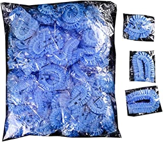 100Pcs Disposable Shower Caps Disposable Plastic Anti Dust Caps for Spa Home Use Hotel and Hair Salon, Blue