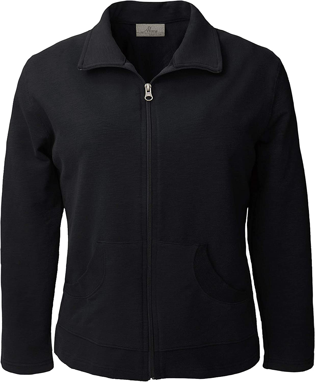 Akwa Women's Rapid rise Long Sleeve Full Zip in Made Jacket Lightweight USA Cash special price
