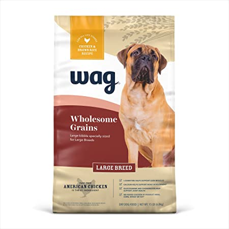Amazon Brand - Wag Dry Dog Food Large Breed with Grains (Chicken and Brown Rice)